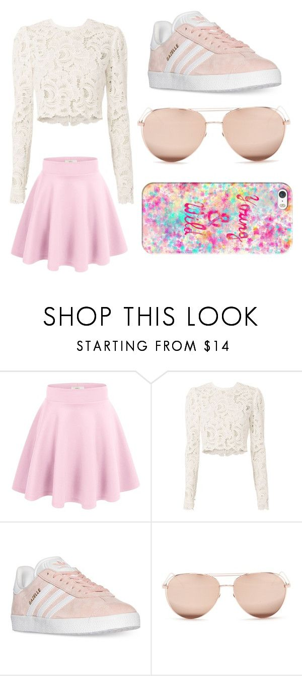 """""""Sin título #5"""" by paola-bedoya ❤ liked on Polyvore featuring beauty, A.L.C., adidas, Linda Farrow and Casetify"""