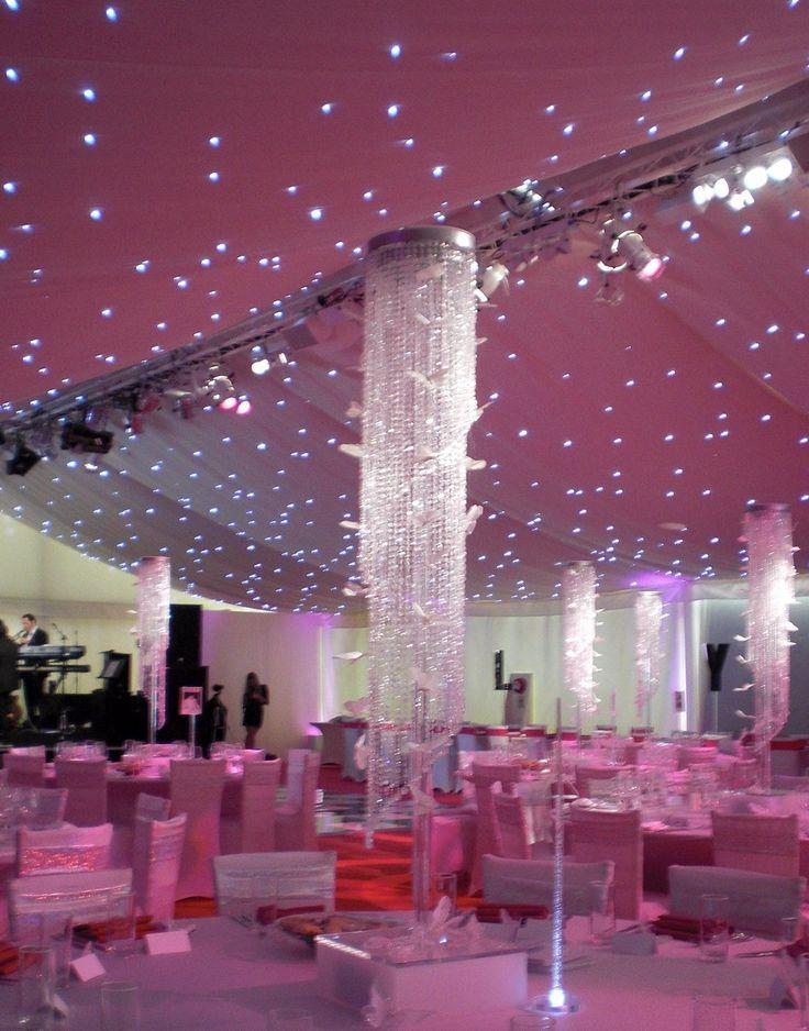 best price h120cm4ft w22cm crystal beaded column banquet canopy decoration wedding roof decor wedding