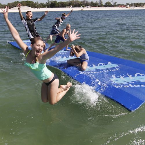 The WaterMat EX floating raft platform toy for water lovers who want great summer fun