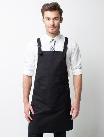 Cargo Crew - Tokyo Bib Apron - Black - Online Uniform Shop Australia