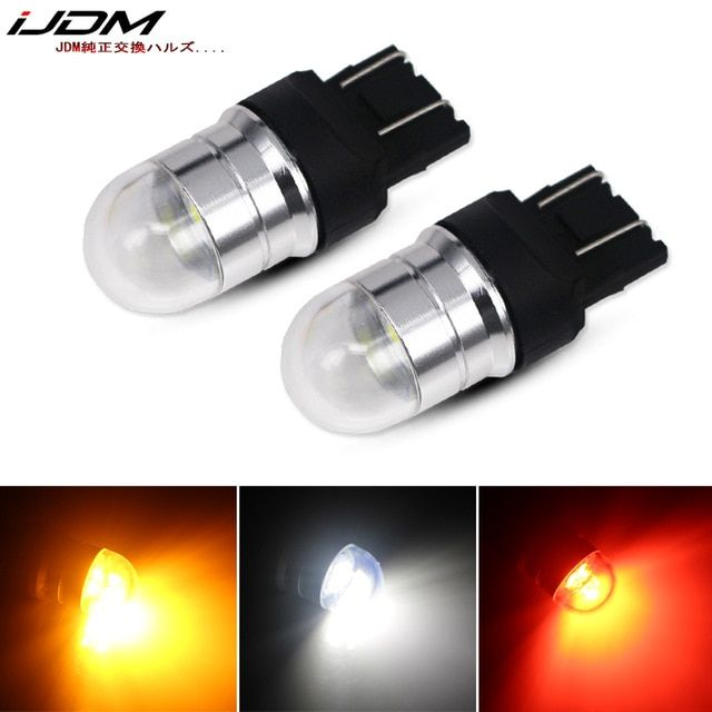 Ijdm Car T20 Led W21 5w 7443 Led Bulb 12v 30v For Car Motorcycle Bikes Trucks Brake Reverse Parking Drl Fog Light Backup La Car Lights Led Bulb Reverse Parking
