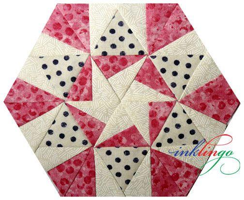 Pieced Hexagon Quilt Block