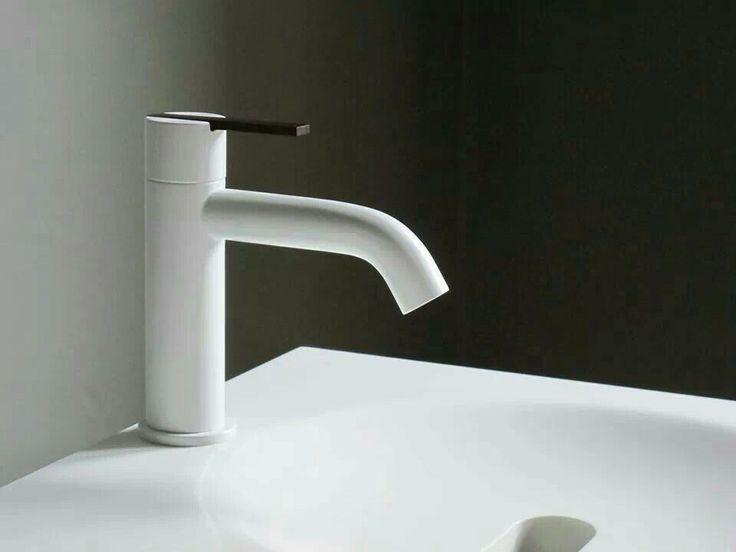 Baths by Clay: Inspiration - Taps: Antonio Frattini Dudok white and wood