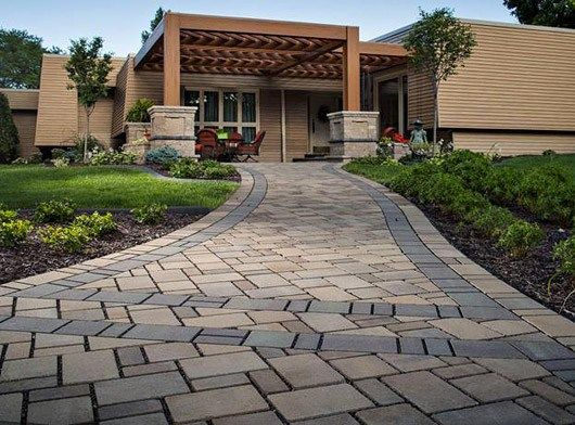 30 best permeable pavers images on pinterest banister ideas a heated permeable paver walkway coordinates with the driveway to create a dramatic entrance to the solutioingenieria Gallery