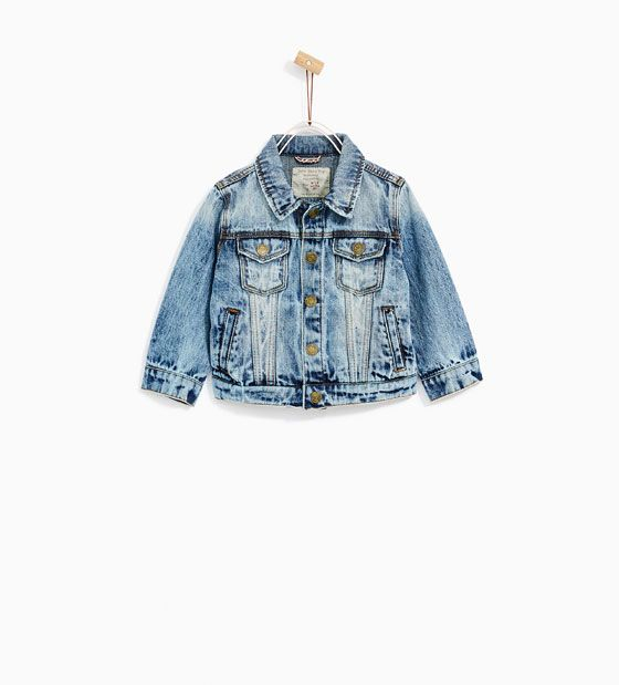 ZARA - KIDS - RIPPED DENIM JACKET
