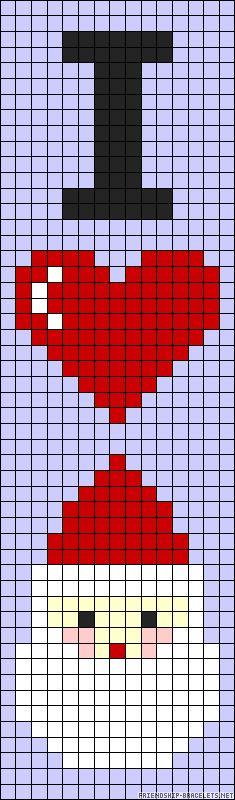 I Love Christmas perler bead pattern