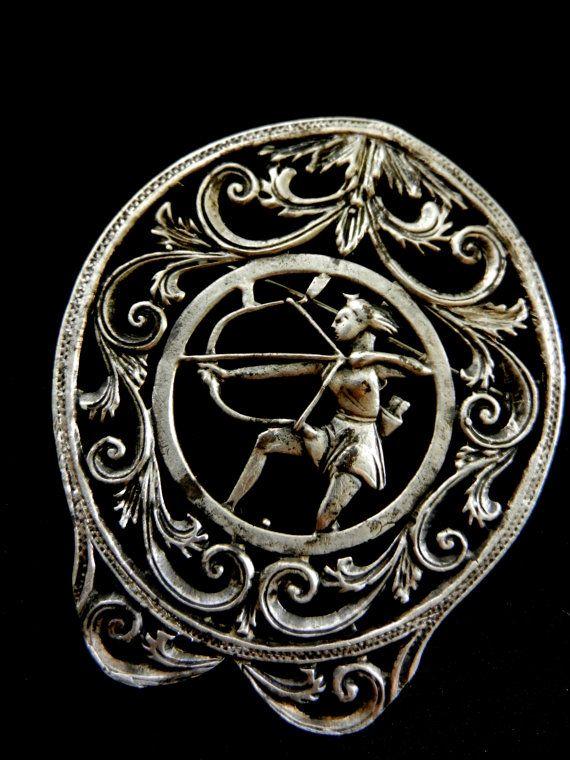 Antique rare italian 925 silver brooch  splendid by RAKcreations