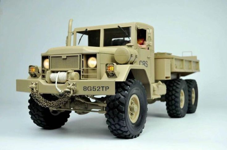 NEW 1/10 Scale RC 6X6 Military Truck Tractor Metal Chassis