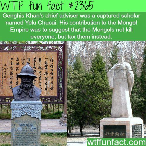 Yelü Chucai / Genghis Khan's Chief Adviser -WTF funfacts