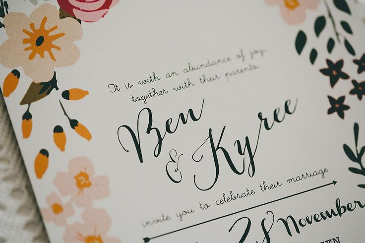 Wedding invitations. Rustic / Whimsical / Bohemian themed