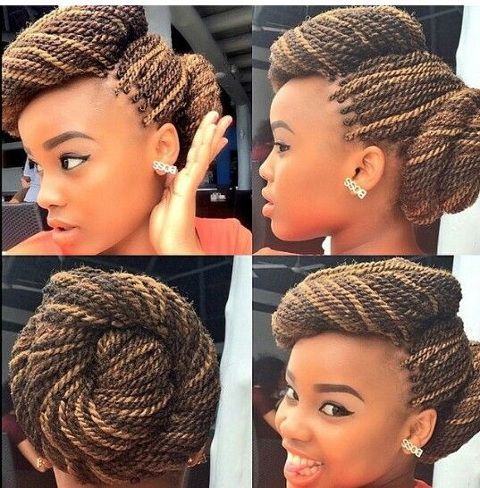 Nice And Elegant Braided Bun Updo Happily Natural