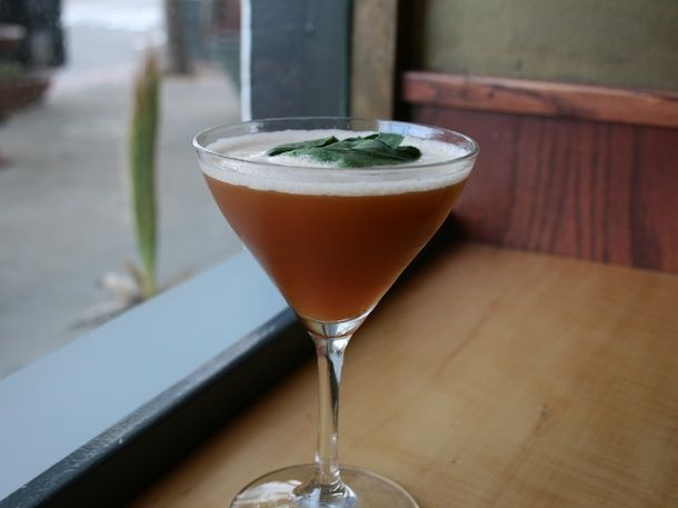 Bourbon and Basil from the Orbit Room in San Francisco