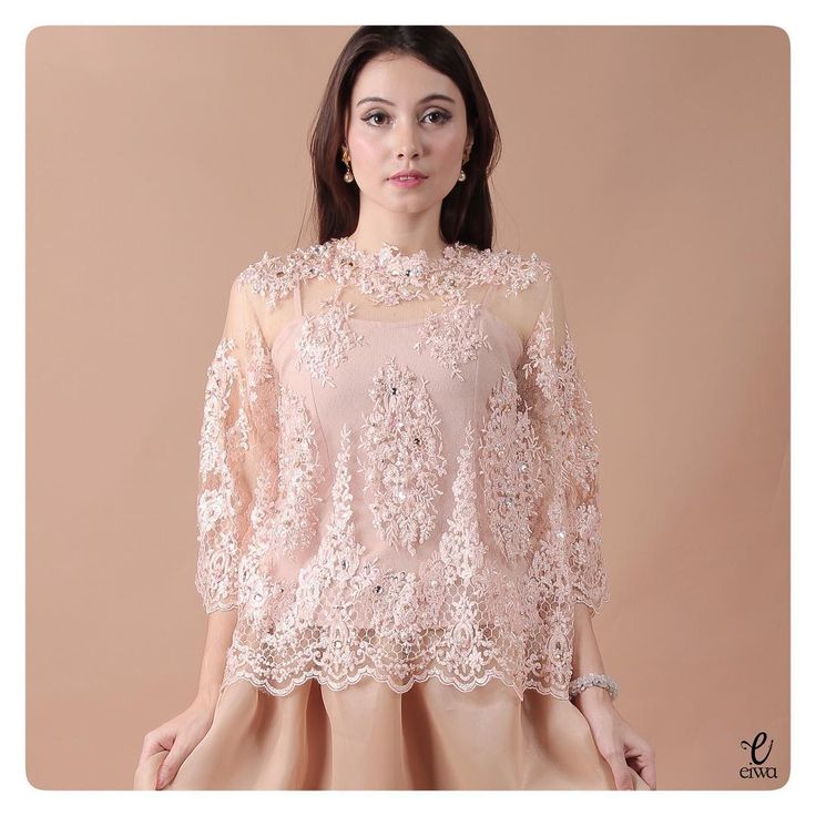 "842 Likes, 44 Comments - EIWA - kebaya brokat bajubodo (@eiwaonline) on Instagram: ""TOP0622 (nude) Bust free up to 114cm Length 60cm Sleeve 50cm Inner included, Tanktop / Longsleeve…"""