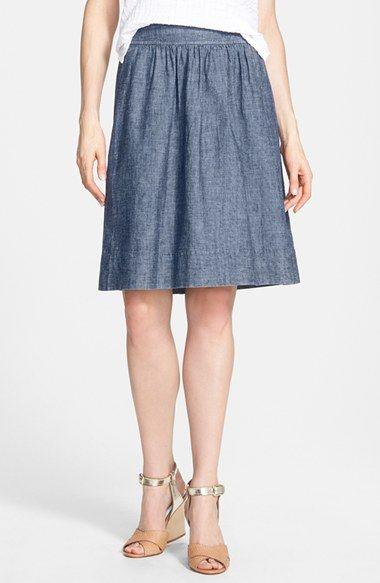 Eileen Fisher Hemp+&+Organic+Cotton+A-Line+Skirt