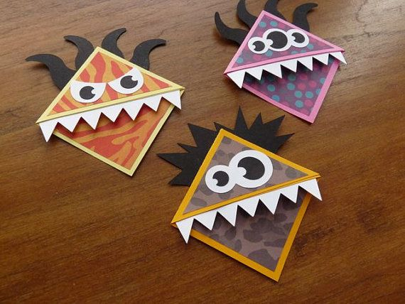 Etsy - DIY Craft - 6 Monster BookMarks