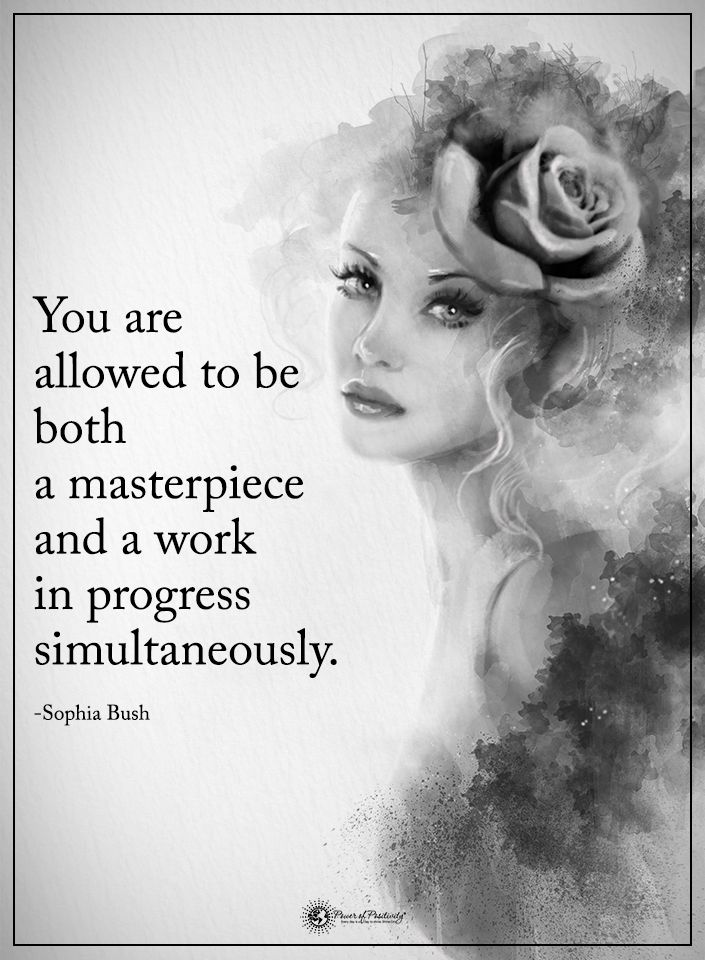 You are allowed to be both masterpiece and a work in a progress simultaneously. - Sophia Bush  #powerofpositivity #positivewords  #positivethinking #inspirationalquote #motivationalquotes #quotes #life #love #hope #faith #respect #masterpiece #progress #simultaneously