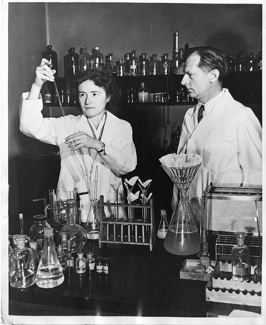 Biochemist Gerty Theresa Radnitz Cori (1896-1957) and her husband Carl Ferdinand Cori (1896-1984) were jointly awarded the Nobel Prize in medicine in 1947 for their work on how the human body metabolizes sugar.