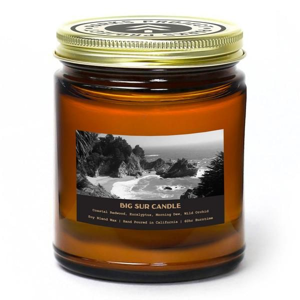 Purpose: Supporting Visitor Programs  BIG SUR // CALIFORNIA // redwood, eucalyptus, morning dew, wild orchid // 7.6oz Soy-Blend Wax Hand Poured in California // Support art programs at the Henry Miller Memorial Library