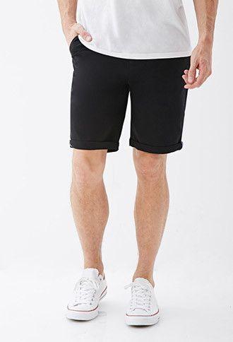 Cuffed Chino Shorts | 21 MEN - 2049257777