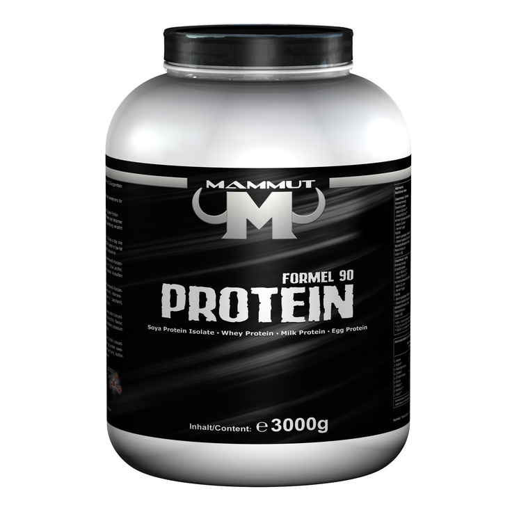 Mammut Formula 90 Protein Vanilla 3000g tin, Soy protein isolate, whey protein, milk protein, egg protein (Aspartame), very high content of L-glutamine acid, helps athletes to gain lean body mass, $45