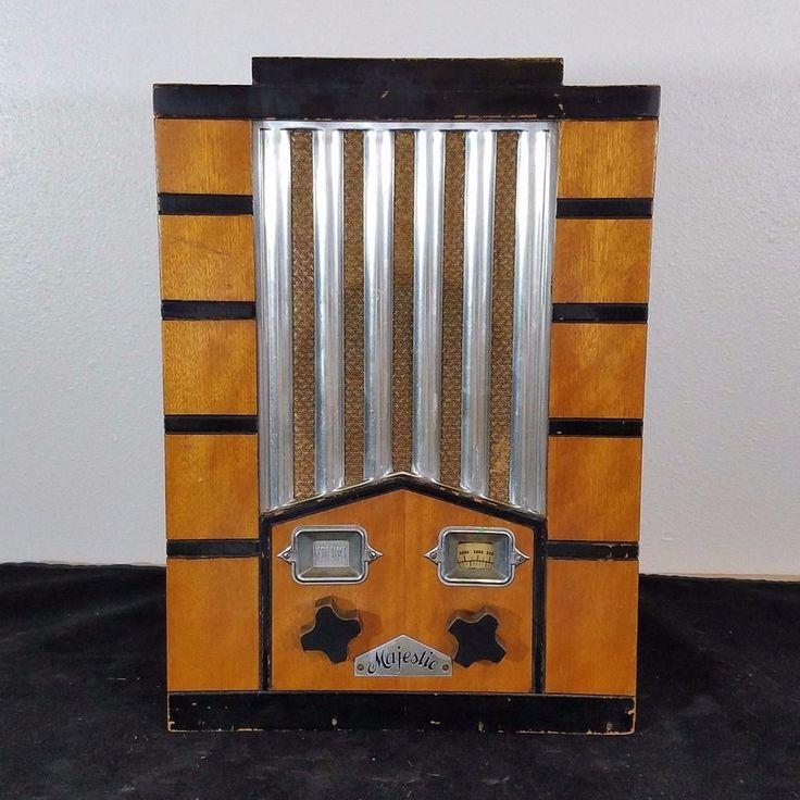 Antique Majestic Art Deco Tombstone Radio