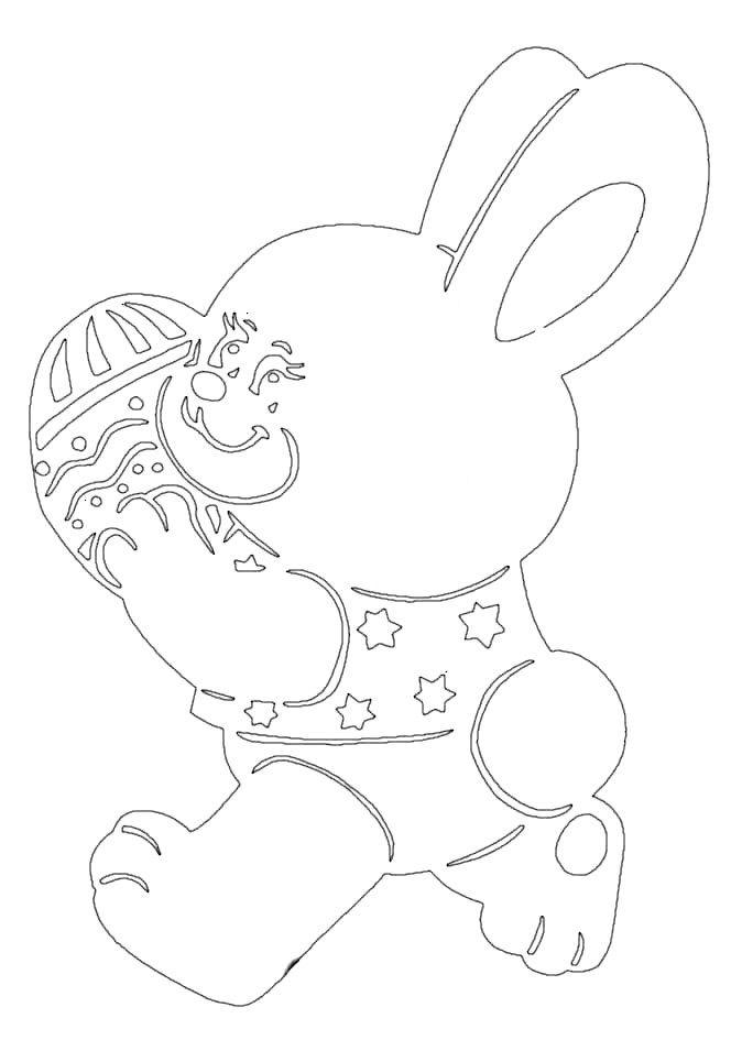 wycinanka królik, wielkanoc