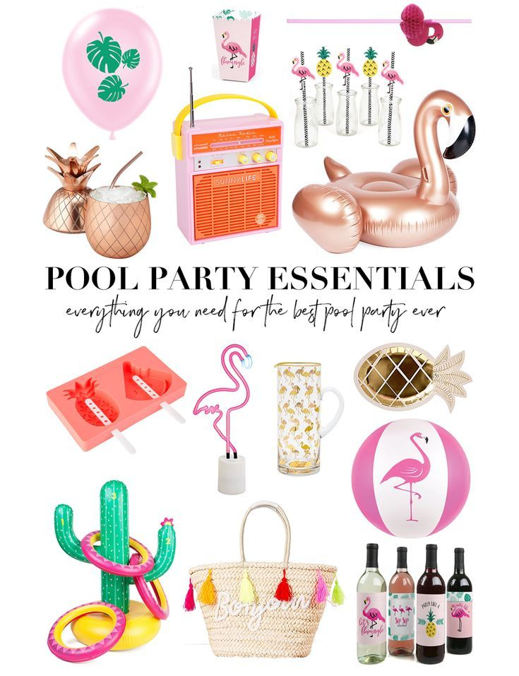 Pool Party Essentials Pool Party Decorations