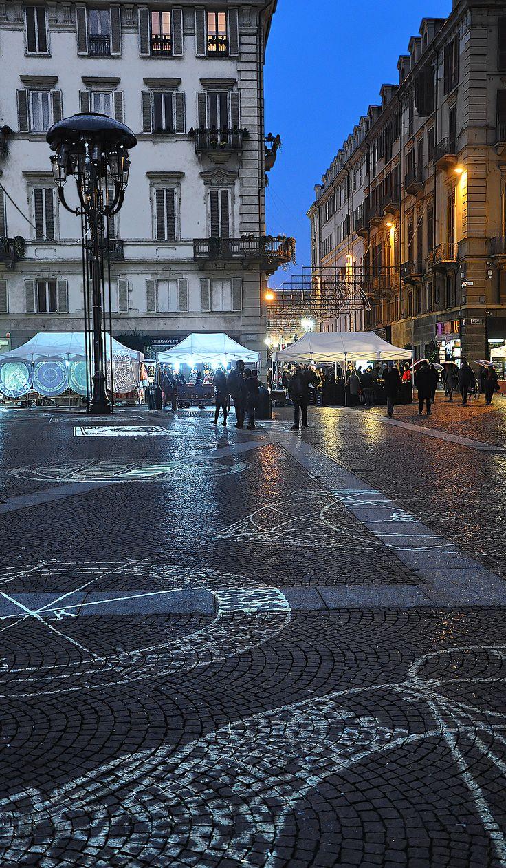 Christmas Light At Piazza Carignano, Torino