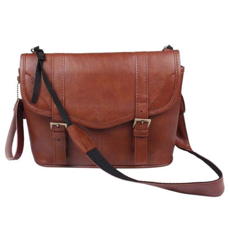 New Durable Brown PU Leather Camera Shoulder Bag Case Pouch For DSLR SLR Camera Price $10.54 for small DSLR and small lens (reviews here