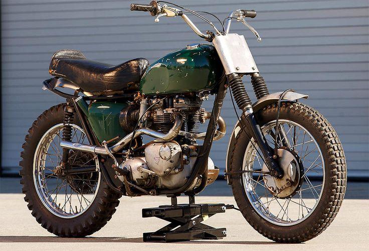 Steve McQueen's 1963 Triumph Desert Sled - Sold for $103,500 today at Bonham's.