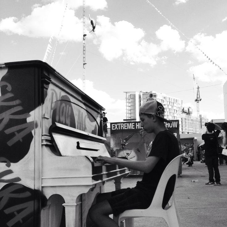 Love the 'play me' pianos around the Brisbane Ekka this year