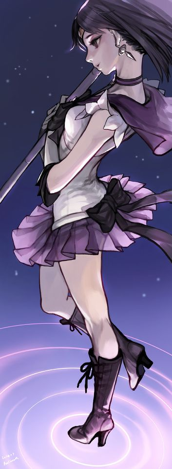Saturn by Racoona  Sailor Saturn