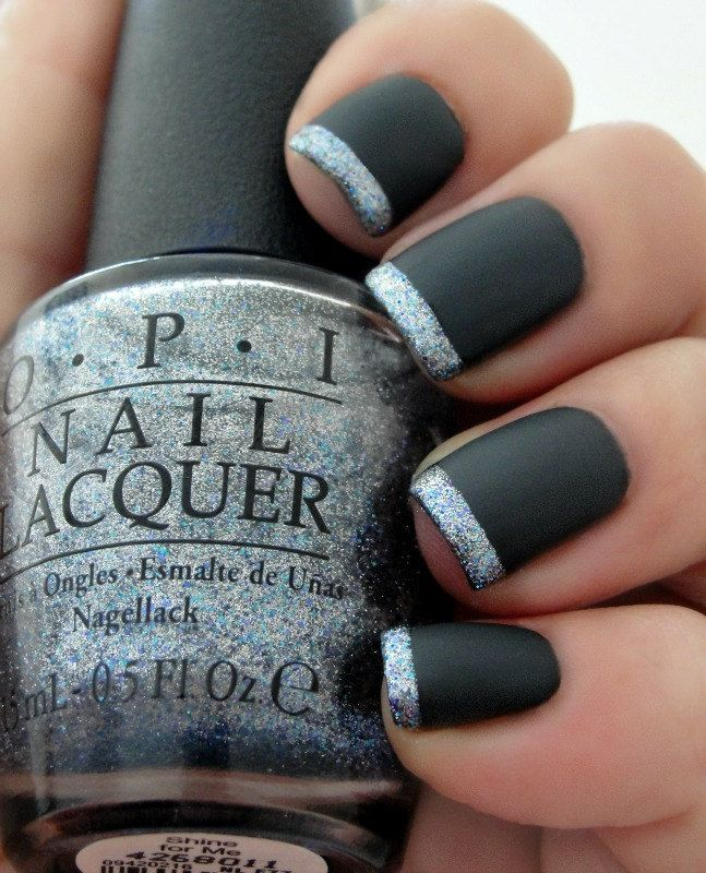 OPI 50 Shades Of Grey~Dark Side Of The Mood, Shine For Me, OPI Matte Top Coat Nail Polish With easy to follow instructions by LoveThoseNails on Etsy https://www.etsy.com/listing/219281823/opi-50-shades-of-greydark-side-of-the