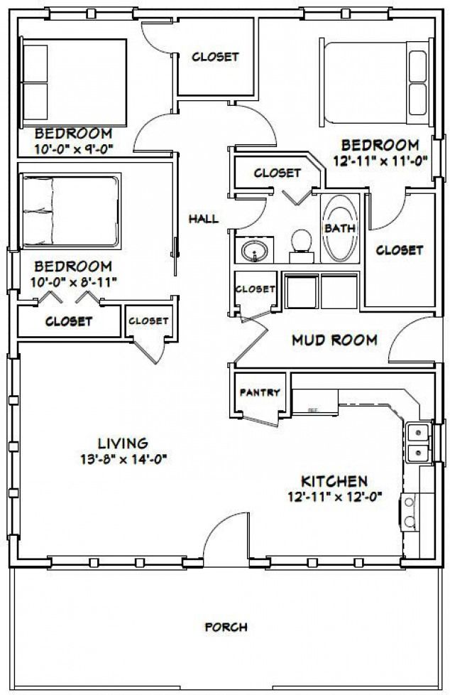PDF house plans - change bathroom closet to washer/dryer change