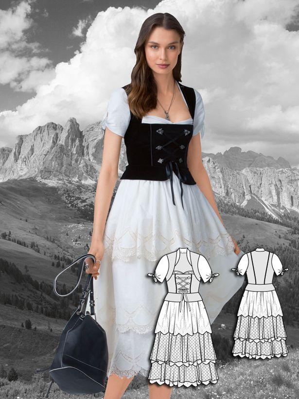 German dress pattern. Love this style!