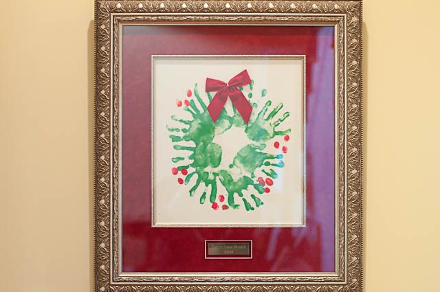 My handprints made this wreath,  My thumbprints each berry,  I hope this helps you have   A Christmas that's merry!