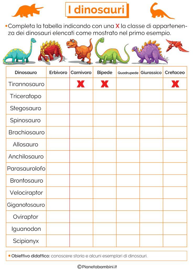 domande facili sui dinosauri per bambini - Ricerca Google ...