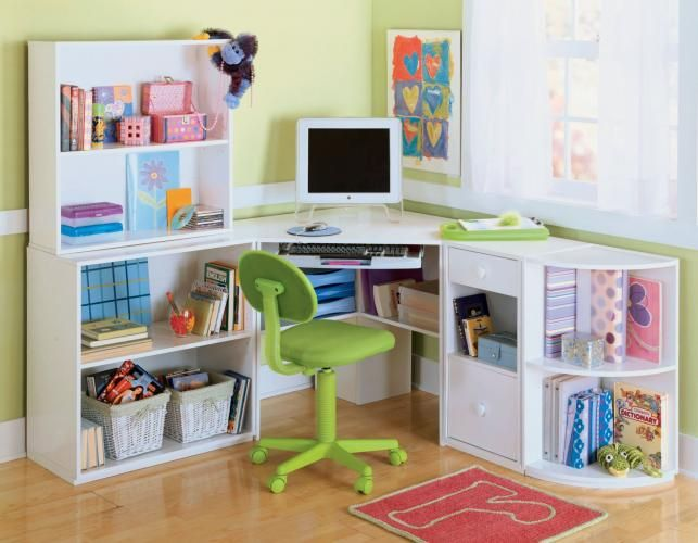 8 Kids Storage And Organization Ideas: Art Desk With Storage Organization For Kids