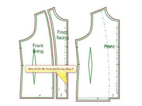 facing lining jacket finishing 4