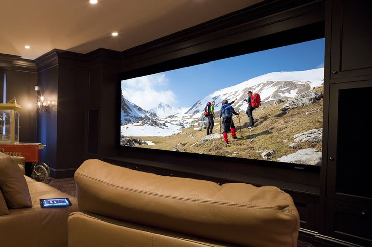 Wide-screen home theater | Forward Thinking | CEDIA Home Automation Design Ideas
