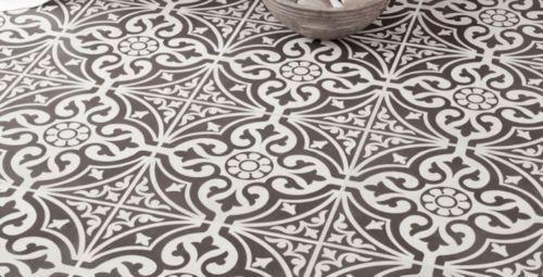 Devon Stone Black Feature Floor Tile 33x33cm In 2019: Details About VICTORIAN STYLE GREY CERAMIC FLOOR TILES