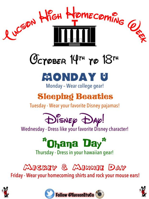 spirit week ideas homecoming - Google Search                                                                                                                                                     More