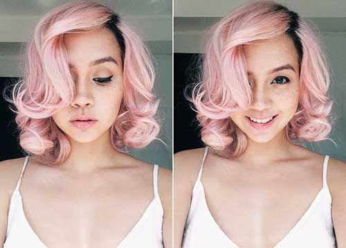 pink short hair - Google Search