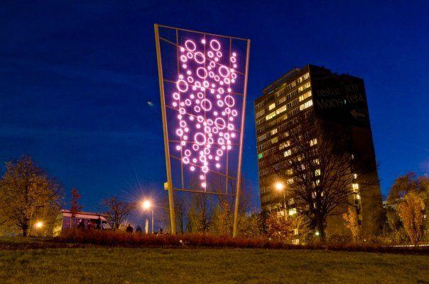 Pink neon in Warsaw, Żoliborz