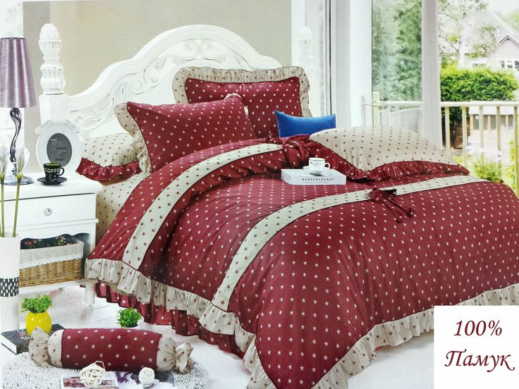 #red #dots #bedding set #design #interior #home #sweet