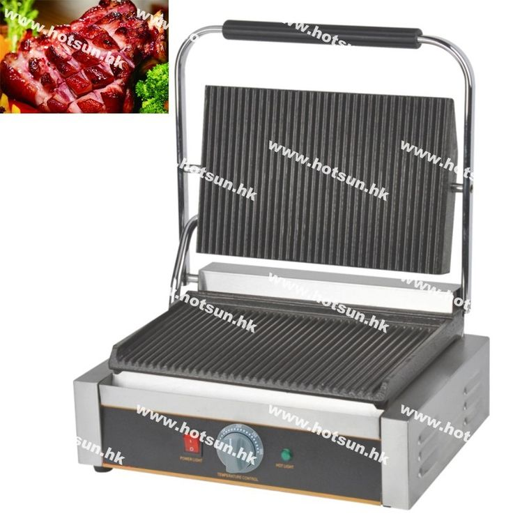 152.00$  Watch now - http://alinc7.worldwells.pw/go.php?t=32711548620 - Commercial Heavy Duty Non-stick 220v Electric Ribbed Iron Plates Panini Press Contact Grill Griddle Toaster