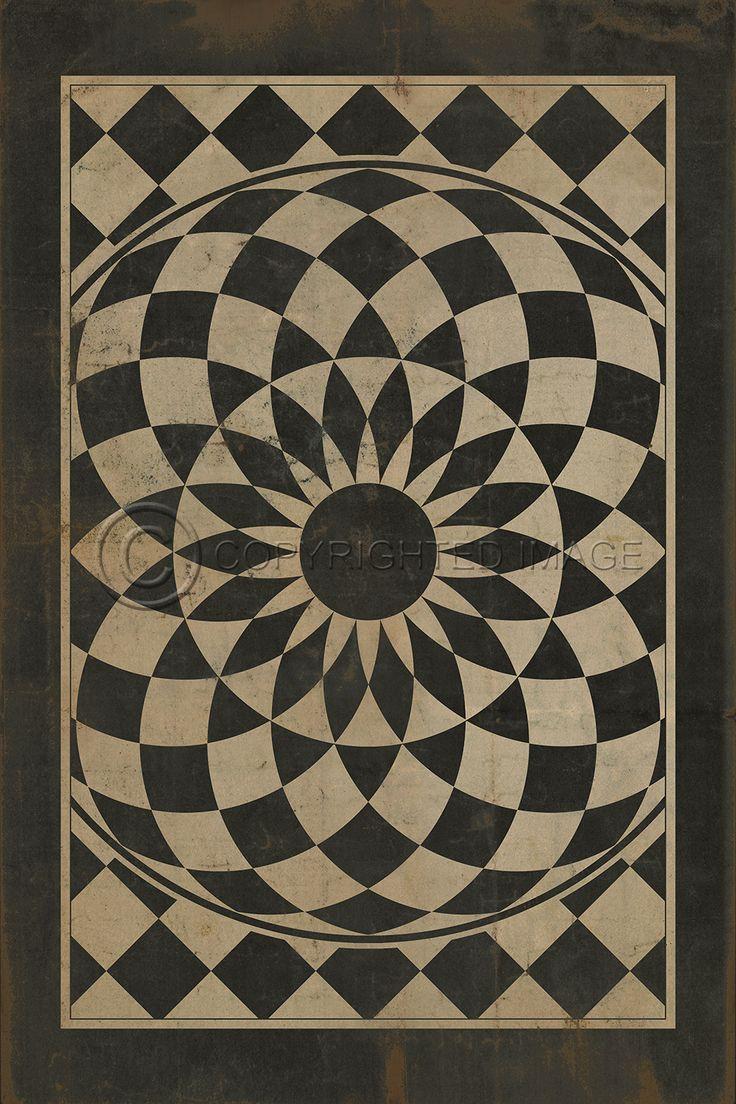 Vintage Design Vinyl Floor Mats Huge Assortment With 10