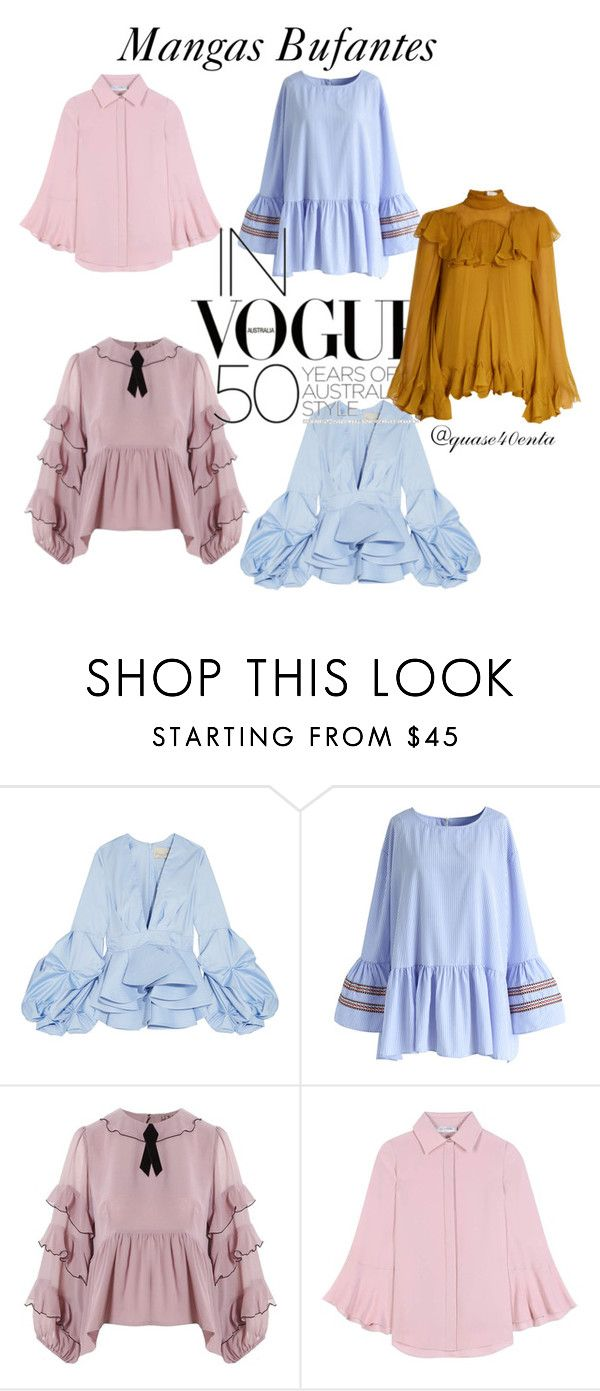 """""""Mangas"""" by fabiana-canegal ❤ liked on Polyvore featuring Johanna Ortiz, Chicwish, For Love & Lemons, Valentino and Chloé"""
