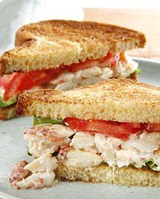 Crab Sandwich: Crabs Meat, Yummy Food, Crabs Sandwiches, Sandwiches Recipes, Martha Stewart, Salad Sandwiches, Crabs Rolls, Crabs Salad, Crescents Rolls