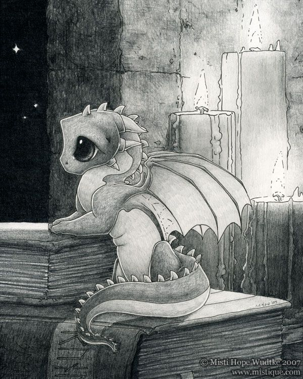 Cute Dragon Trapped in Schoolroom • Sketch